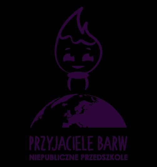 """Logo przedszkola """"Przyjaciele Barw"""""""