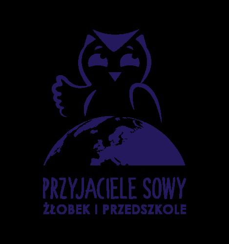 """Logo przedszkola """"Przyjaciele Sowy"""""""
